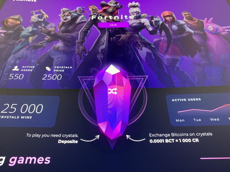WIP Landing Games Platform landing game purple crypto website flat sketch web clean app ux design ui ukraine