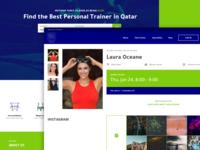 Fitness Website Landing Page UI