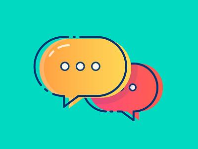 Colourful Comment Bubble bubble speech bubble talk conversation icon comment