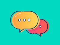 Colourful Comment Bubble