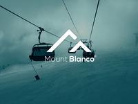 "Daily Logo Challenge: Day 8 ""Ski Mountain"" V2"