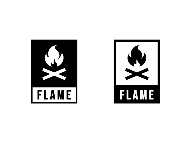 "Daily Logo Challenge: Day 10 ""Firewood Company"" V2 flinto firewood flint fire typography logo illustration dailylogochallenge icon golden ratio golden abstract"