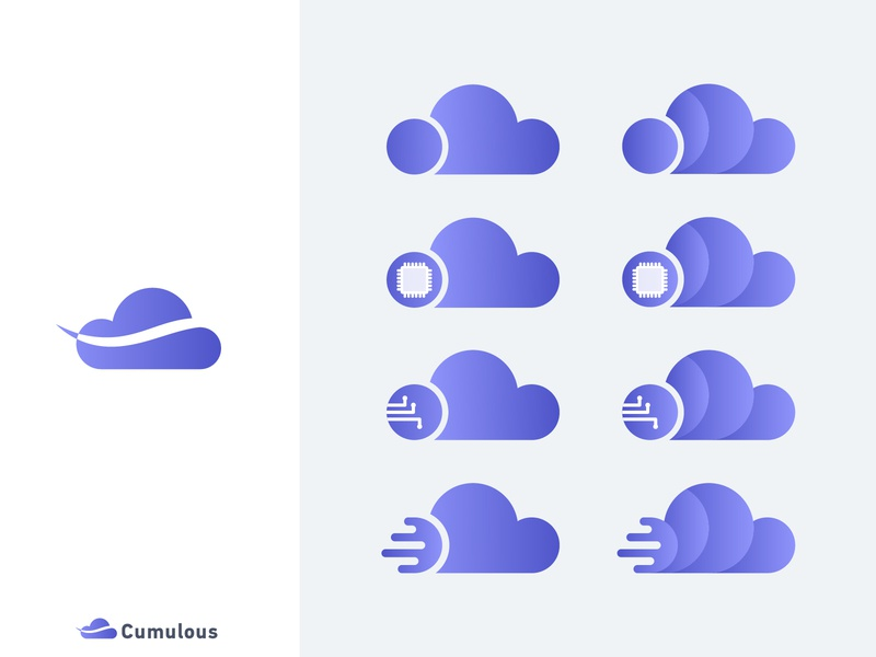 "Daily Logo Challenge: Day 14 ""Cloud Computing Logo"" v2 daily logo challenge daily logo cloud logo computing cloud computing cloud clean cumulous logo dailylogochallenge"