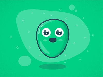Cute blob character illustration