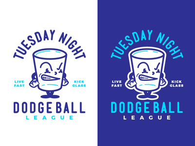 GLASS CANNONS | Dodgeball Mascots Series pt.1 sports illustration character cartoon mascot dodgeball shot glass