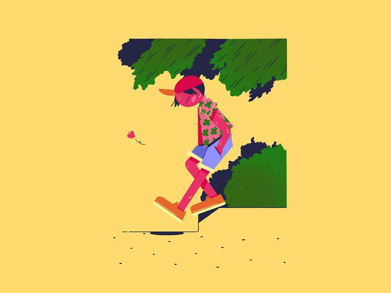 Late Summer Vibes – 3🚶‍♂️ chill vibe vibes summertime summer drawing character illustration