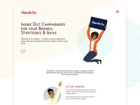 Hands On Brands website design