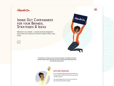 Hands On Brands website design homepage web design