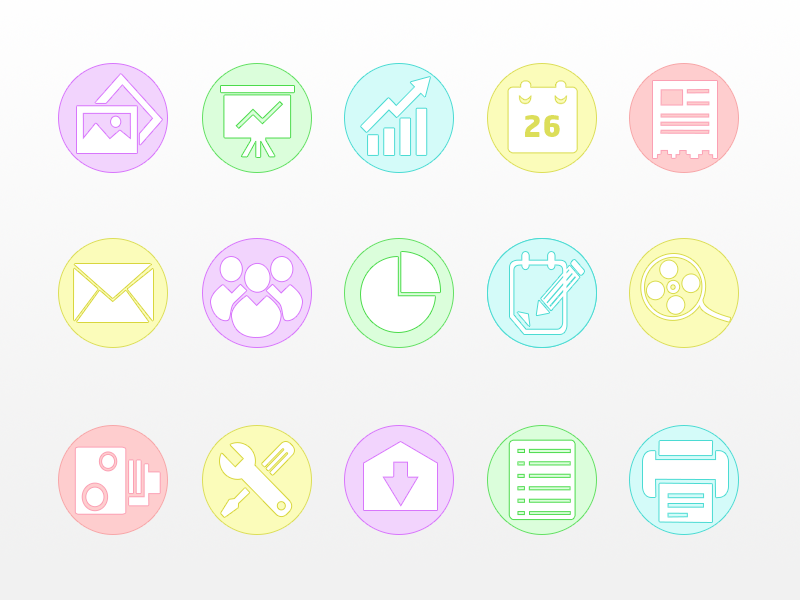 Business Icon Set icons flat design psd freebie set ui icon free website web app