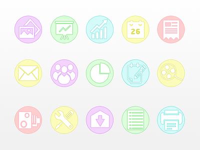 Business Icon Set icons flat design psd freebie set ui icon free website web app