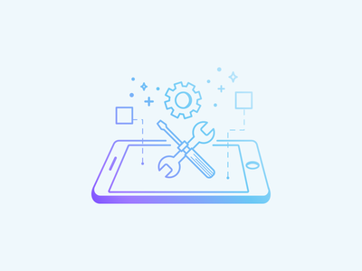 Customizable brand icons gradient illustration website design web ux ios icon design gradient icon icon mobile app product design