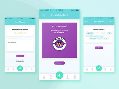 Write a Review gradient gradient button review ios location app app design mobile app navigation product design ux ui