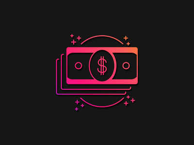 Monetization  graphs infographic ios web ux iconography money illustration mobile app gradient icon gradient icon