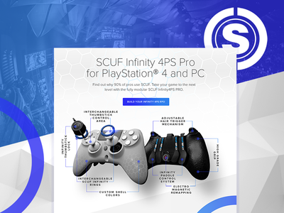 SCUF Gaming angle background angle dark background ecommerce website web gradient esports gaming ui ux