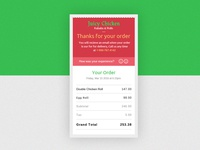 #DailyUI 17 Email Receipt