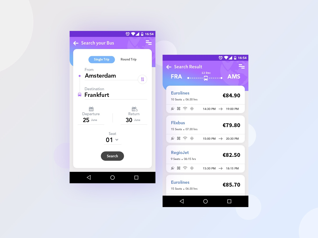 Bus booking android app design android apps android app mobile mobile app visual deisng ux uiux ui ticketapp ticket booking ticket app ticket bus booking bus booking busbooking
