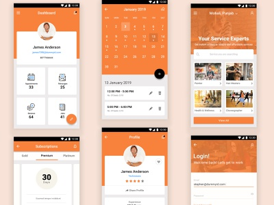 Yopro Service & Appointment Booking Experts App fatbit app branding design