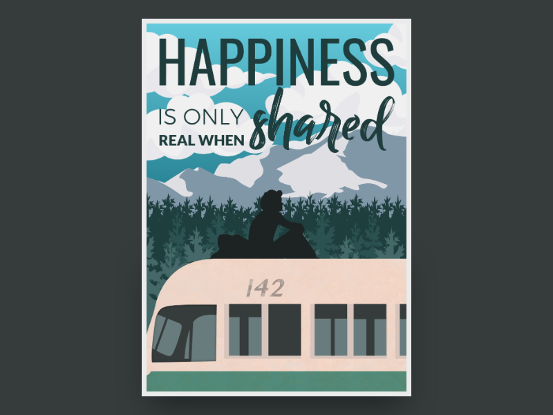 Happiness Is Only Real When Shared By Gravit Dribbble Dribbble