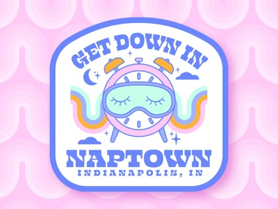 Get Down in Naptown | Indianapolis, Ind Sticker Design icon ux app typography adobe photoshop t-shirt design adobe illustrator dribbble rebound playoff ui indianapolis vector logo illustration design branding brand identity brand design brand assets apparel graphic