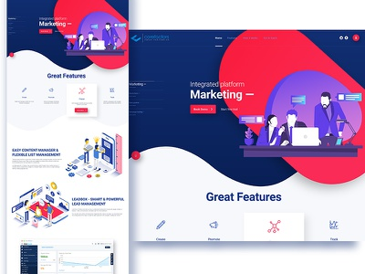 A sample landing page layout landing page homepage website ux ui