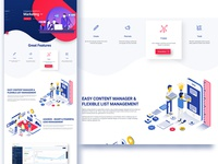 UI Elements of the landing page