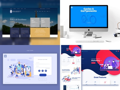 2018 top 2018 top 4 invision studio invisionstudio invision vector duotone pages animation web minimal typography illustration webpage design layout branding website ux ui