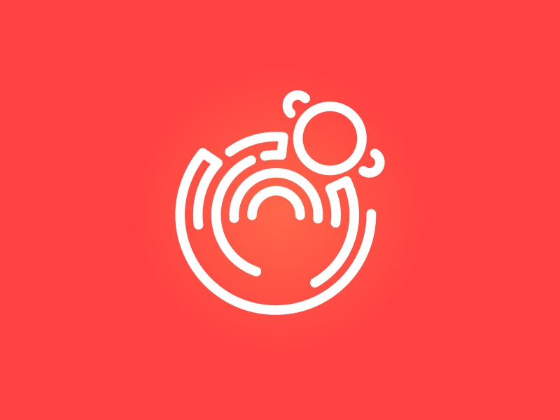 Red Monkey Security Logo outline monkey red security logo branding