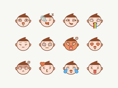 Yamada Emoji character ios stickers illustration app imessage emoji