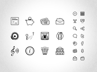 Grayscale Icon Set