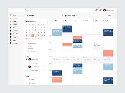 Scheduler Desktop App app clean ui ux schedule app scheduling erp appointments reserve booking calendar design scheduler schedule calendar ui calendar