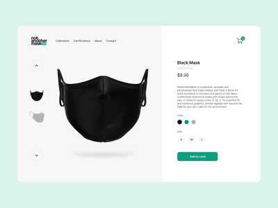 Wear a Mask mask user experience interfacedesign interface shopping web page web ui pandemic stay safe staysafe fashion web design ux clean product details product page ui ecommerce design ecommerce wear a mask
