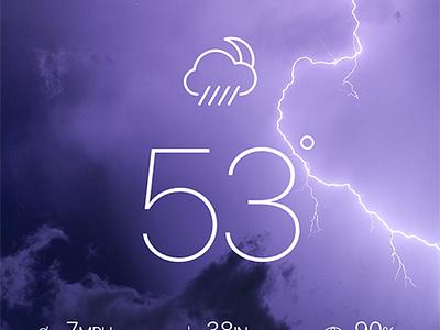 Weather App iphone interface simple mobile design clean ui app weather