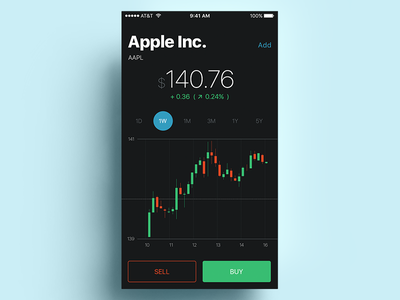 Stocks App trading fintech finance data graphics stats market apple ios mobile stock stocks