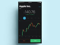Stocks App trading fintech finance data graphics stats market apple ios mobile stock stocks