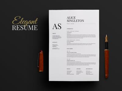 Elegant Resume word resume editable resume doc resume elegant resume modern resume clean resume diy resume curriculum vitae cv template cv resume template resume
