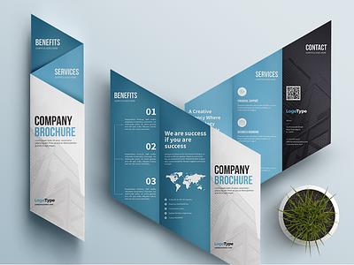 Creative Corporate Brochure print design blue brochure corporate brochure business brochure flyer tri-fold trifold brochure design brochure template brochure