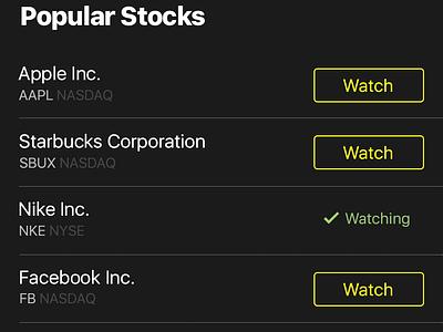Stocks App trading stocks stock stats mobile market ios graphics fintech finance data apple
