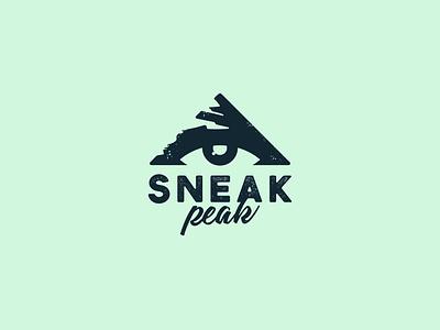 SneakPeak eye logo peak logo flat design vector logo