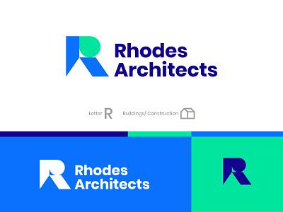 Rhodes Architects architects contruction brand identity branding logo