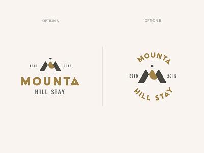 Mounta Logo vintage logo flat brand identity design vector m letter logo mountain logo branding logo