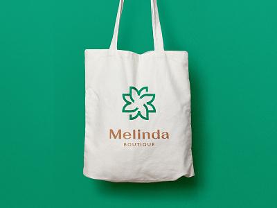 Melinda Boutique Branding vector design elegant brand identity logo branding