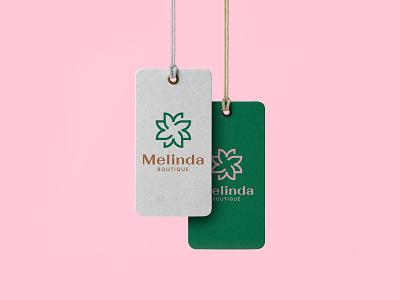 Melinda Boutique Branding apparel logo boutique logo elegant vector design brand identity logo branding