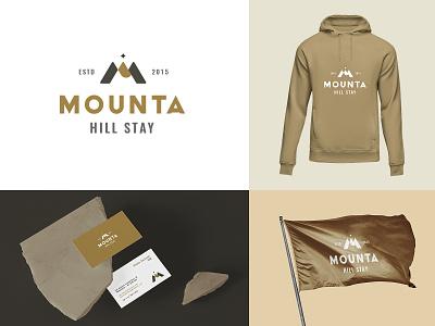 Mounta Branding hotel logo mountain logo design vector logo brand identity branding