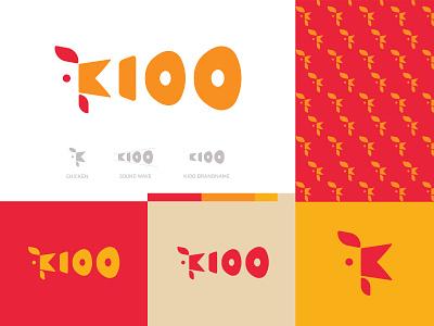 KIOO  Logo chicken logo bird logo vector design branding logo brand identity