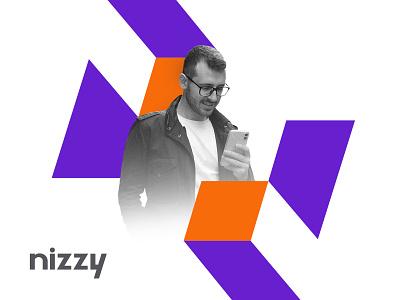 NIzzy Branding technology logo nlogo vector design brand identity logo branding