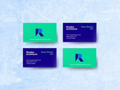 Rhodes Architects Branding construction logo architect logo business card design brand identity logo design branding