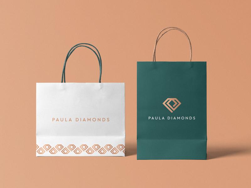 Paula Dimaonds Branding diamond logo luxury brand luxury logo vector elegant logo design brand identity branding