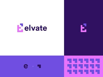 Elvate design vector logo branding