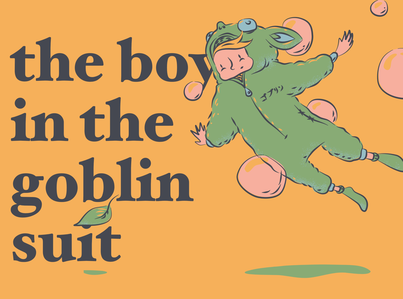 the boy in the goblin suit suit goblin boy poster character illustration