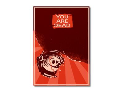 Dead space astronaut dead illistration game art